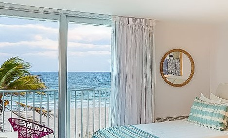 room by beach