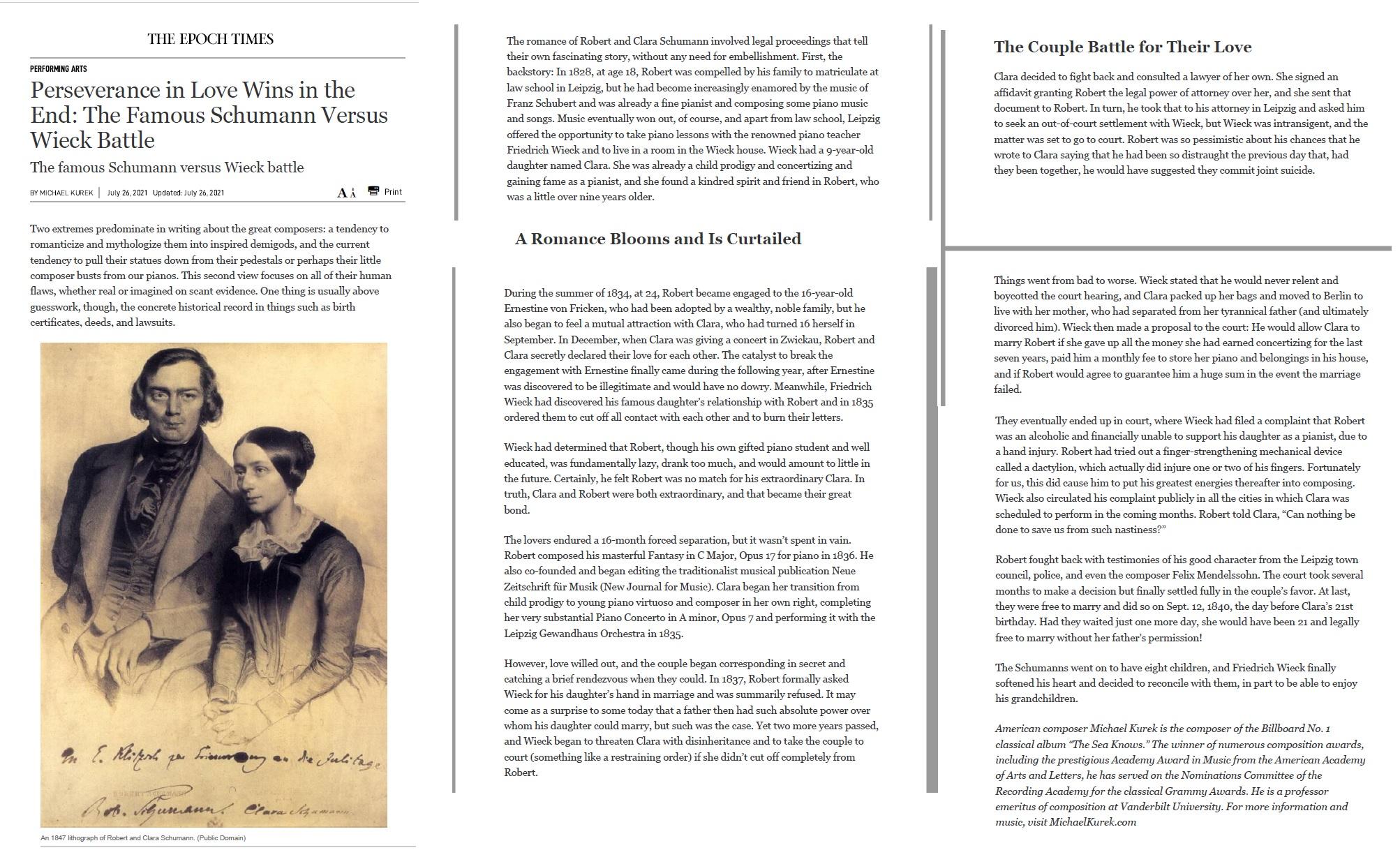 Schumann Epoch Times Article
